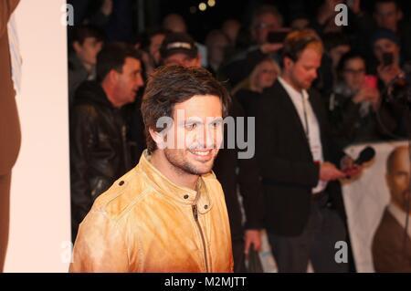 Tom Beck am 18.2.2014 bei der Weltpremiere'Stromberg' im Cinedom Köln - Stock Photo