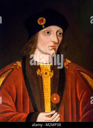 Henry VII. Portrait of King Henry VII (1457-1509), unknown artist, late 16th century - Stock Photo