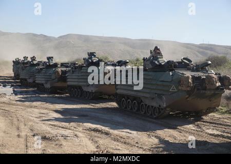 U.S. Marines with Kilo Company, 3rd Assault Amphibian Battalion, Battalion Landing Team, 3rd Battalion, 1st Marine - Stock Photo