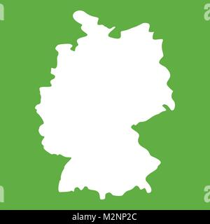 Map of Germany icon green - Stock Photo