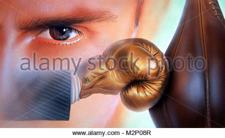 Aggression boxes - Stock Photo