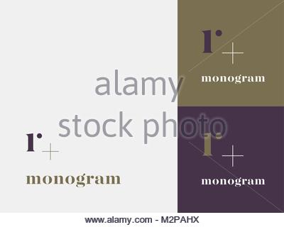 R initial logo. Elegant monogram. - Stock Photo