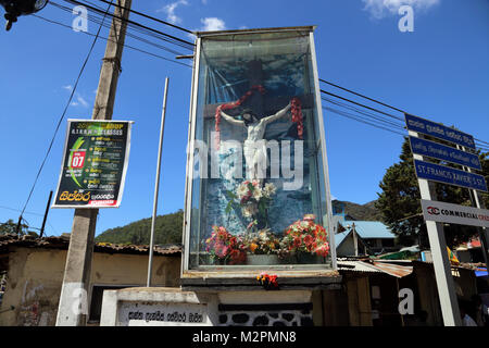 St Francis Xavier's Street Nuwara Eliya Hill Country Central Province Sri Lanka Jesus Christ In Crucifix - Stock Photo
