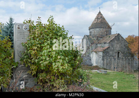 Haghpat and Sanahin is an Armenian monastery complex founded in the 10th century in the Lori Province of Armenia. - Stock Photo