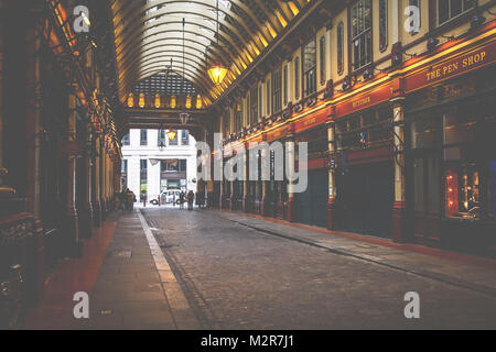 The Leadenhall Market - a passage in the heart of London, city of London, England, Great Britain, - Stock Photo