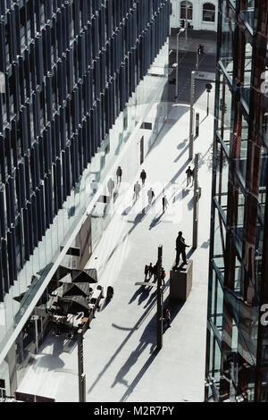 Streets of London - pedestrian, abstract, bird's-eye view - Stock Photo