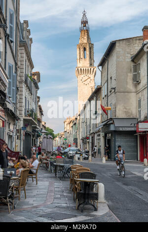 Street in the Old Town of Avignon, Vaucluse, Provence, France, - Stock Photo