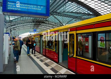 Hauptbahnhof, Berlin, Germany - Stock Photo