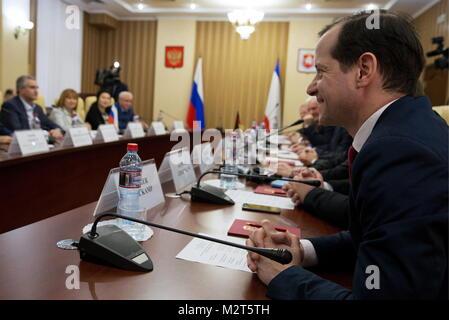 Simferopol, Russia. 08th Feb, 2018. SIMFEROPOL, RUSSIA - FEBRUARY 8, 2018: Roger Bekamp, the leader of a parliamentary - Stock Photo