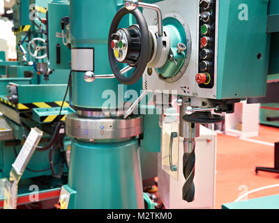 Big radial drilling machines in factory - Stock Photo