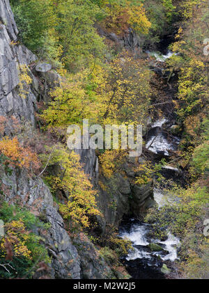 Bode in autumn, Harz National Park, Saxony-Anhalt, Germany - Stock Photo