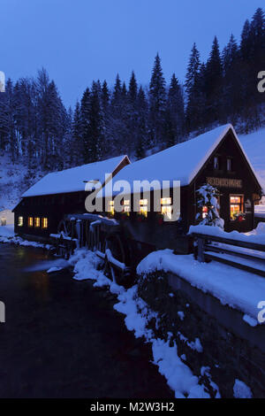 Hexenlochmühle in winter, Black Forest, Baden-Wurttemberg, Germany