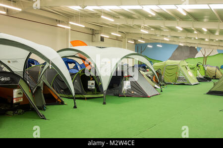 Tent display in Go outdoors store. UK - Stock Photo : tent display - memphite.com
