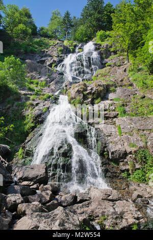 Hangloch Wasserfall, Todtnau, Black Forest, Baden-Wurttemberg, Germany - Stock Photo