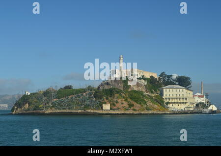 Views Of Alcatraz Island From The Sea. Travel Holidays Architecture June 30, 2017. San Francisco. California USA - Stock Photo