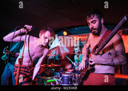 Barcelona, Spain. February 2, 2018. Concert by Kitai in Sidecar. Photographer: © Aitor Rodero. - Stock Photo