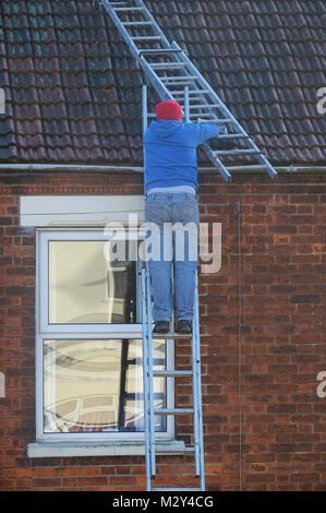 Man Climbing Ladder Stock Photo 78786993 Alamy