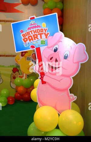 birthday party, invitation card - Stock Photo