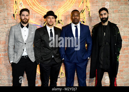 Rudimental attending The Black Panther European Premiere at The Eventim Apollo Hammersmith London. - Stock Photo