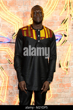 Stormzy attending The Black Panther European Premiere at The Eventim Apollo Hammersmith London. - Stock Photo