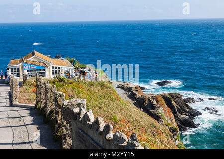 England, Cornwall, The Lizard, The Most Southerly Gift Shop and Cafe - Stock Photo