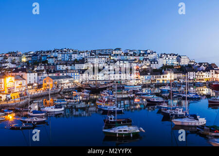 England, Devon, Brixham, Brixham Harbour - Stock Photo