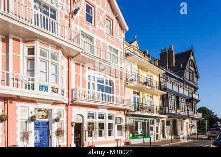 England, Devon, Dartmouth, Waterfront Buildings - Stock Photo