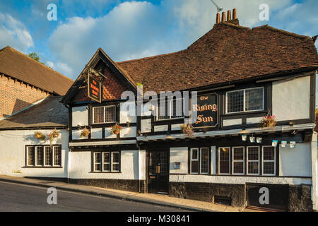 The Rising Sun pub in Winchester, England. - Stock Photo