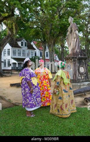 Suriname Paramaribo Creole Women In Kotomisi Dress The National Stock Photo Royalty Free