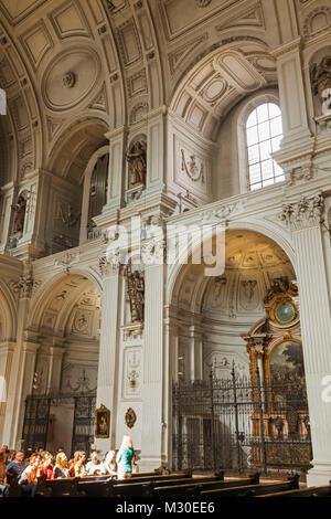 Germany, Bavaria, Munich, Neuhauser Strasse, Church of St.Michael - Stock Photo