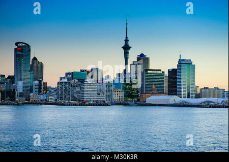 Skyline of Auckland, New Zealand - Stock Photo