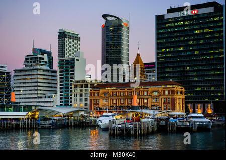 Skyline of Auckland, New Zealand - Stock Photo