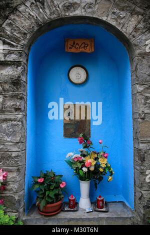 small altar in Como at Lake Como, Italy - Stock Photo