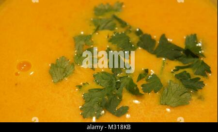 Pea and lentil soup, closeup - Stock Photo