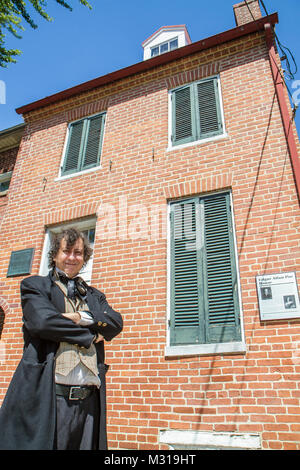 Baltimore Maryland North Amity Street Edgar Allan Poe House & and Museum American poet literature history memorabilia - Stock Photo