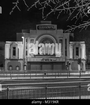 The O2 Academy music venue is housed in the restored art deco New Bedford cinema building in Glasgow, Scotland, - Stock Photo