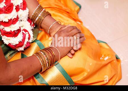Indian wedding rituals, - Stock Photo