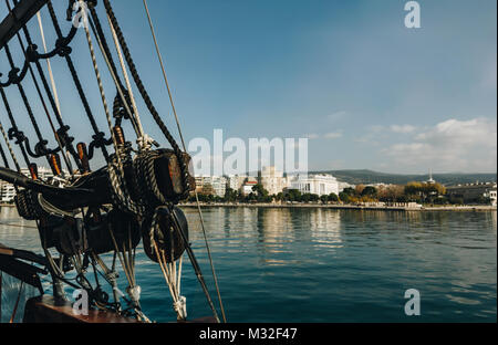 A interesting view of Salonicco from the boat. Greece - Stock Photo