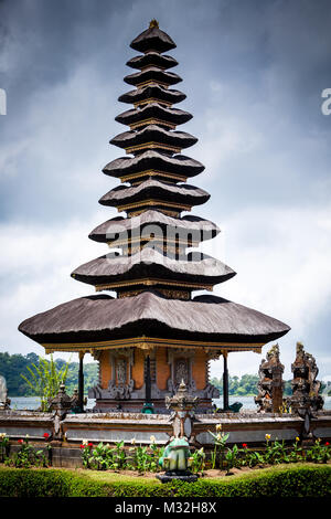 Pura Ulun Danu Bratan, Bali. Hindu temple on Bratan lake. Major Shivaite and water temple Bali, Indonesia. Travel - Stock Photo