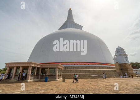 Anuradhapura, Sri Lanka, Ruvanvelisaya Dagoba - Stock Photo