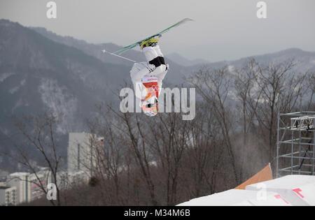 Pyeongchang, South Korea. 9th Feb, 2018. Aktion, allgemein; Ski/Freestyle Skiing - Men«s Moguls/Maenner (Manner) - Stock Photo
