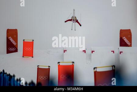 Pyeongchang, South Korea. 9th Feb, 2018. Feature, allgemein, Aktion; Ski/Freestyle Skiing - Ladies« Moguls/Frauen - Stock Photo