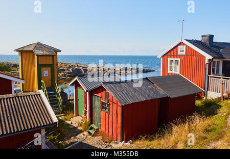 Baltic Sea coast community on island of Oja (Landsort), the southernmost point in the Stockholm archipelago, Sweden, - Stock Photo