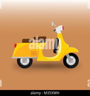 Scooter Bike Transportation Vector Illustration Graphic Design - Stock Photo