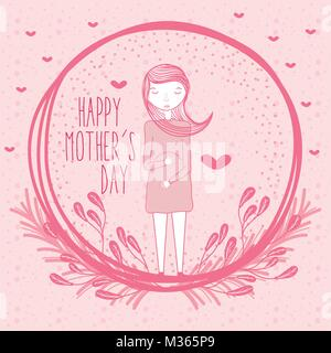Happy mothers day card - Stock Photo