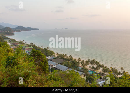Beautiful tropical viewpoint scenery of White Sands Beach, Koh Chang, Trat, Thailand. - Stock Photo