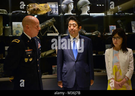 Prime Minister Shinzo Abe Visits Defense POW MIA Accounting Agency by #PACOM - Stock Photo