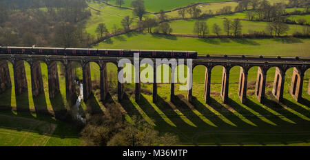 Ouse Valley Viaduct, Sussex, UK Aerial view - Stock Photo