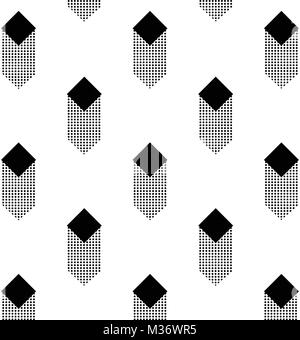 Cubic geometric pattern. Vector illustration. - Stock Photo