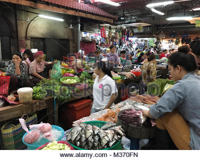 old market, siem reap, cambodia - Stock Photo